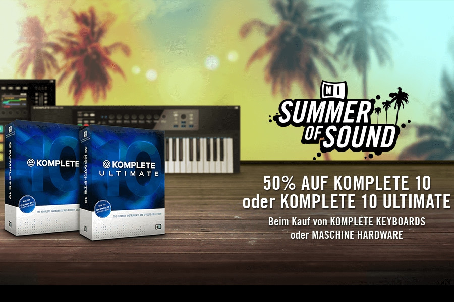 Native Instruments Aktion Summer of Sound