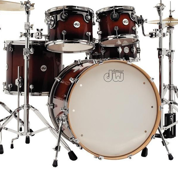 DW Shellpack Design Tobacco Burst Lacquer