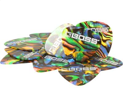 Boss BPK-12-AT Celluloid Pick 12er Pack Abalone Thin2