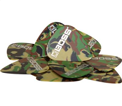 Boss BPK-12-CM Celluloid Pick 12er Pack Camo Medium2