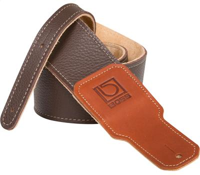 "Boss BSL-25-BRN 2,5"" Guitar Strap Brown Premium Leather1"