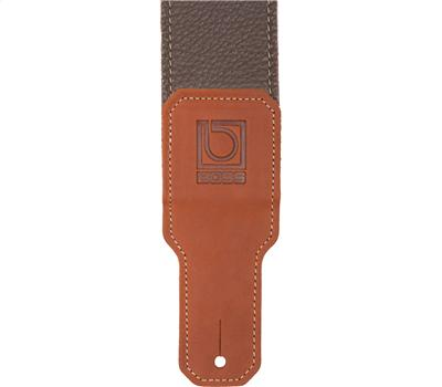 "Boss BSL-25-BRN 2,5"" Guitar Strap Brown Premium Leather2"