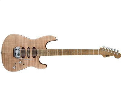 Charvel Guthrie Govan Signature HSH Flame Maple Caramelized Flame Maple Fingerboard Natural1