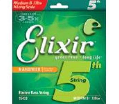 Elixir Nanoweb Single String .130 Extra Long Scale
