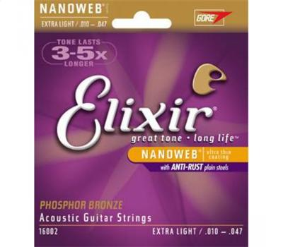 Elixir - Nanoweb Coated - Extra Light - - .010-.047