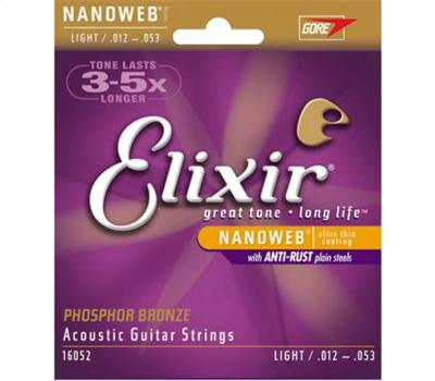 Elixir - Nanoweb Coated - Light Phosphor Bronze - .012-.053