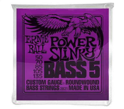 Ernie Ball 2821 Nickel Wound 5-String Power Slinky .050-.135