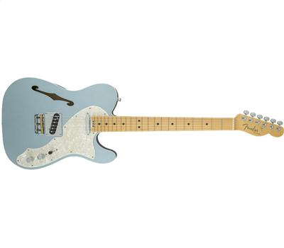 Fender American Elite Telecaster Thinline MN Mystic Ice Blue1