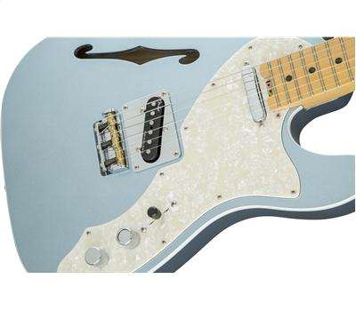 Fender American Elite Telecaster Thinline MN Mystic Ice Blue3