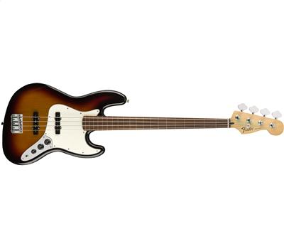 Fender Standard Jazz Bass Fretless Pau Ferro Brown Sunburst1