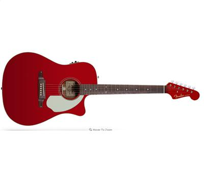 Fender Sonoran SCE Candy Apple Red with Matching Headstock1
