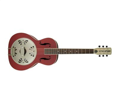 Gretsch G9241 Alligator Biscuit Round-Neck Resonator Chieftain Red1