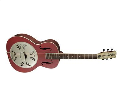 Gretsch G9241 Alligator Biscuit Round-Neck Resonator Chieftain Red3