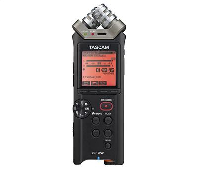 Tascam DR 22 WL Stereo Handheld Recorder, WiFi