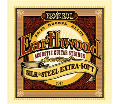 Ernie Ball - 2047 - Earthwood Silk and Steel - Extra Soft - .010-.050
