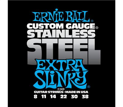 Ernie Ball 2249 Stainless Steel Extra Slinky .008-.038