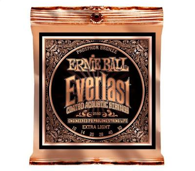 Ernie Ball - 2550 - Everlast Phosphor Bronze - Extra Light - .010-.050