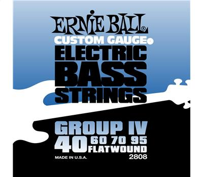 Ernie Ball 2808 Stainless Steel Flatwound Extra Slinky .040-.095