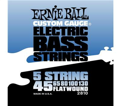 Ernie Ball - 2810 - Stainless Steel - Flatwound - 5-String Slinky - .045-.130