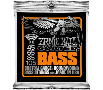 Ernie Ball 3833 Coated Nickel Wound Hybrid Slinky .045-.105
