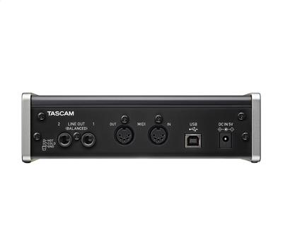 TASCAM US-2x2, USB Audio/MIDI Interface, 2 in/out, MIDI,3