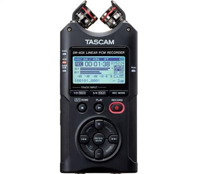 TASCAM DR-40X - 4 Track Handheld Recorder, USB Audio Int1