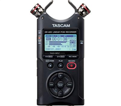 TASCAM DR-40X - 4 Track Handheld Recorder, USB Audio Int2