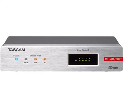 TASCAM ML-4D/OUT-E - 4 Out Dante-Analog Converter mit DS1