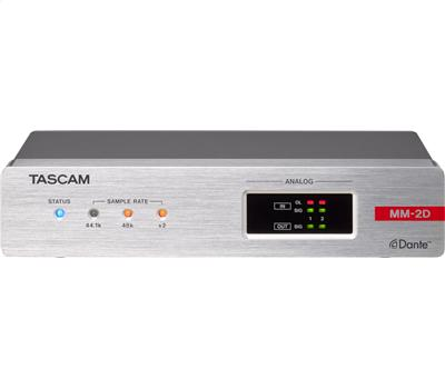 TASCAM MM-2D-E - 2 In / 2 Out Dante-Analog Converter mit1