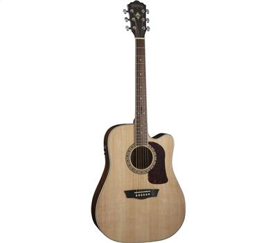 WASHBURN HD10SCENS Akustik-Gitarre, Natural Satin1