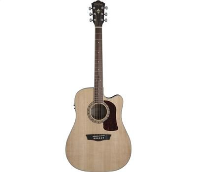 WASHBURN HD10SCENS Akustik-Gitarre, Natural Satin3