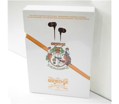 ORANGE EARBUDS - Hörsprechgarnitur InEar, 16 Ohm, schwar5